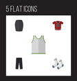flat icon clothes set of singlet t-shirt foot vector image vector image