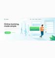 flat modern design online banking vector image vector image