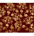 Floral gold wallpapers vector image