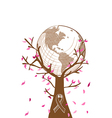 Global Breast cancer awareness concept tree EPS10 vector image vector image