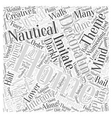 Home Decorating With a Nautical Theme Word Cloud vector image vector image