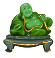 hotey figurine made of jade isolated on white vector image vector image