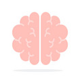 human brain flat material design isolated object vector image vector image
