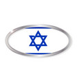 israel flag oval button vector image vector image