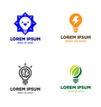 light bulb logo design set vector image vector image
