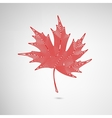 maple leaf lined vector image vector image