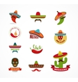 Mexican food icons menu elements for restaurant