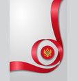 montenegrian flag wavy background vector image vector image