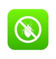no bug sign icon digital green vector image vector image