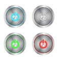 on buttons silver vector image vector image