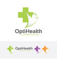 optimal health logo vector image vector image