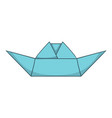 origami boat icon cartoon style vector image