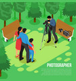 photographer isometric composition vector image