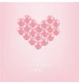 pink balloons heart vector image