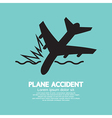 Plane Accident Sinking Into The Sea vector image vector image