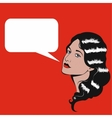 Pop Art retro of woman with speech vector image