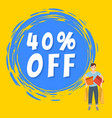 promotion sales and discounts guy shopping on vector image