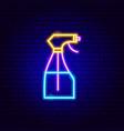 pulverizer neon sign vector image vector image