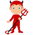 Red devil cartoon vector image