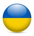 Round glossy icon of ukraine vector image