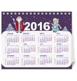 Russian Santa Claus and Snow Maiden Calendar for vector image vector image