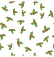 seamless holly berries vector image vector image