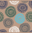 seamless pattern with vintage aborigine vector image vector image