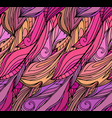 seamless texture with pink feathers with doodle vector image