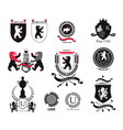 Set brand sports club student club heraldic shi vector image vector image