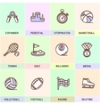 set icons in flat style vector image