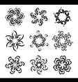 Set of graphical flowers vector image vector image