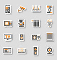 smart house and internet of things sticker icons vector image