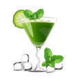 smoothie cocktail green drink with cucumber vector image