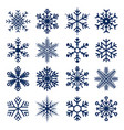snowflakes icons set snowflakes texture vector image vector image