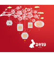 sparkling chinese new year 2019 ornaments vector image vector image