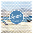 summer retro poster vector image