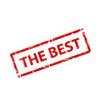 the best sign sticker stamp texture vector image