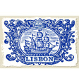 Traditional Tiles Azulejos Lisbon Portugal vector image vector image
