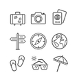 Travel and tourism icon set Simplus series Each vector image vector image