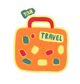 travel bag or suitcase going on a trip a symbol vector image vector image