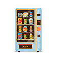 vending machine snack crackers junk food soda vector image