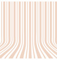 vertical striped background 3d effect vector image vector image