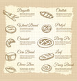 vintage poster with popular bakery products vector image vector image