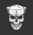 vintage seaman skull in sailor hat vector image vector image