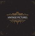 vintage swirl frames vector image