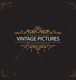 vintage swirl frames vector image vector image
