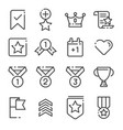 votes and rewards line icons vector image