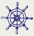 Wheel marine wooden vector image vector image