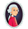 wolfgang amadeus mozart caricature vector image