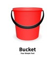 red bucket vector image